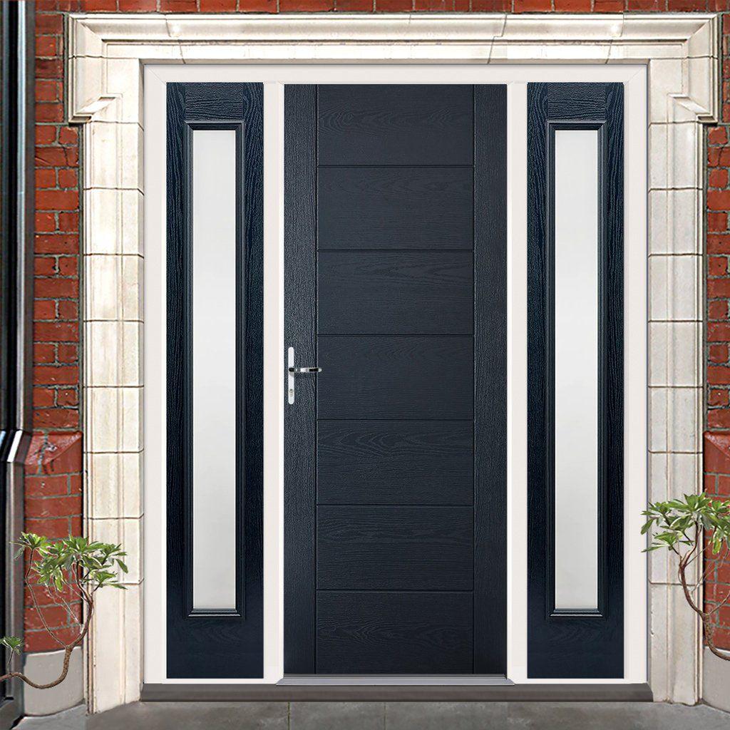 Grp Grey Modica Composite Door With Two Sidelights Delivery Is Free Price 840 00 Inc Vat The Composite Door Contemporary Front Doors External Front Doors