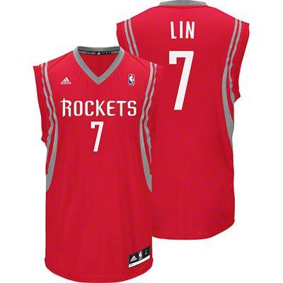 wholesale dealer d6e46 f756a Jeremy Lin Adidas Revolution 30 NBA Houston Rockets Jersey ...