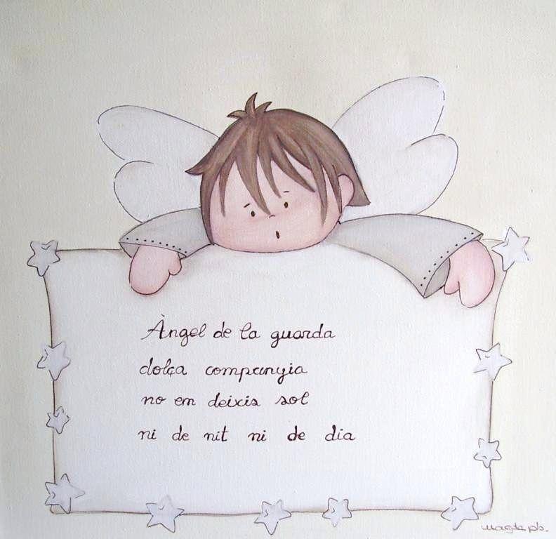 Cuadro Personalizado Nino Angel De La Guarda De Magda Playa Angel De La Guarda Dibujos De Comunion Cuadros Ninas