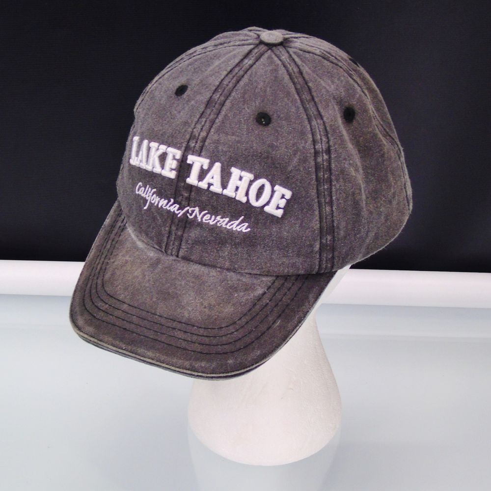 ea0bfcb3c22 Lake Tahoe LT Cap California Nevada Elevation 6229 Adjustable Gray Trucker  Hat  Unbranded  BaseballCap