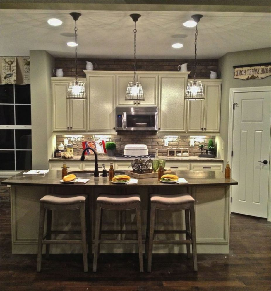 Wonderful Image Of Lighting Fixtures Over Kitchen Island Interior Design Ideas Home Decorating Inspiration Moercar Rustic Kitchen Lighting Rustic Kitchen Kitchen Remodel
