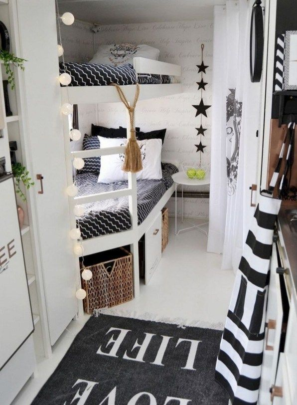 30 wonderful rv camper van interior decorating ideas camping rh pinterest com