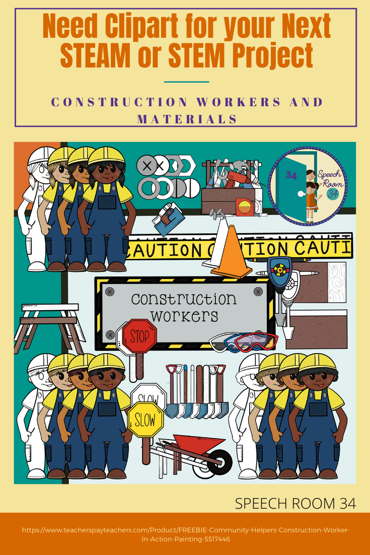 STEM/STEAM Project Clip Art.  Construction Workers