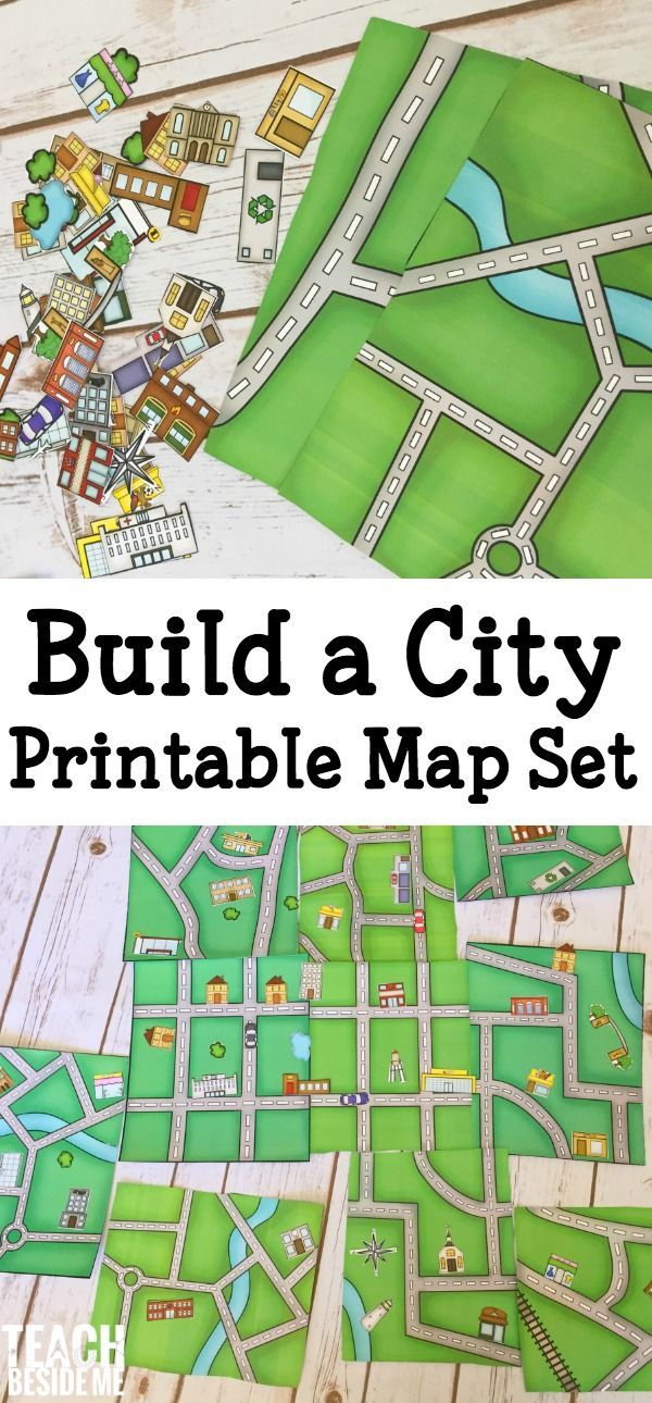 Build A City Map Printable Geography Set Geography Regarding Blank City Map Template Map Activities History Activities History Projects