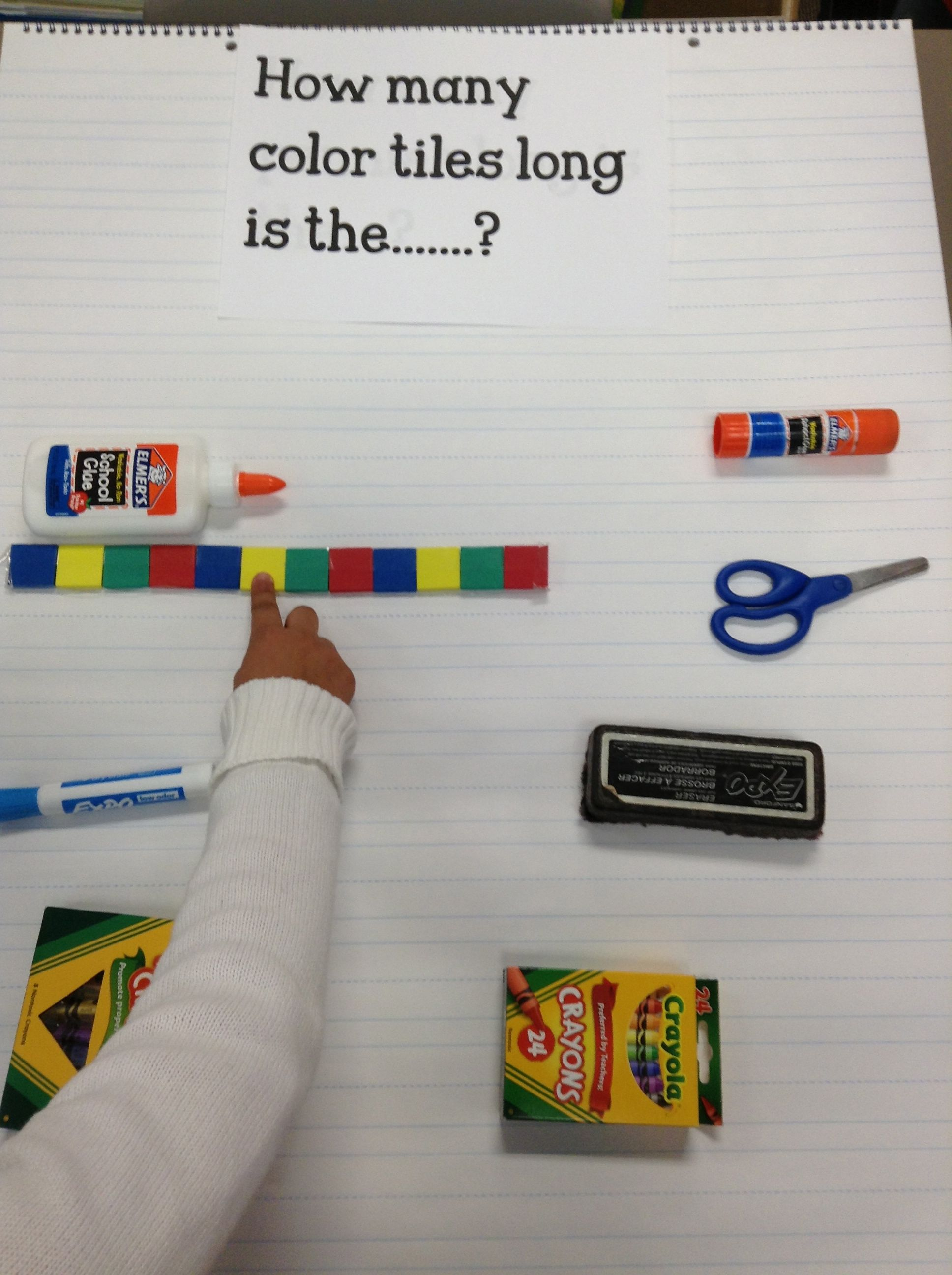 How many color tiles long is the ..? Group 2 Using