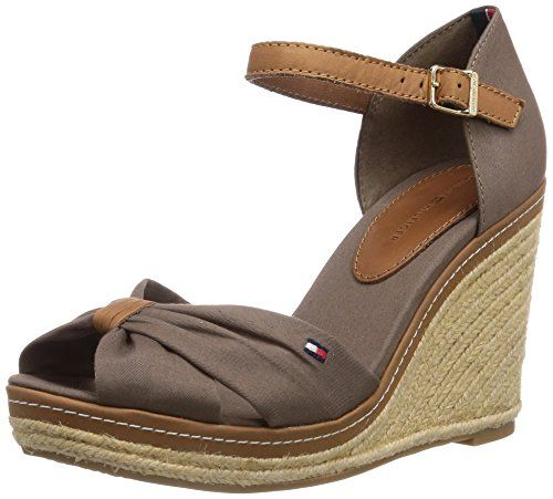9a0c689c3a4ff Tommy Hilfiger EMERY 54D, Women Wedge Open Toe Sandals: Amazon.co.uk ...
