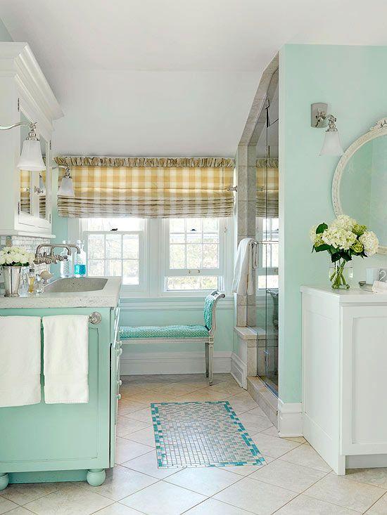 pastel bathroom ideas - Seafoam Green Bathroom Ideas