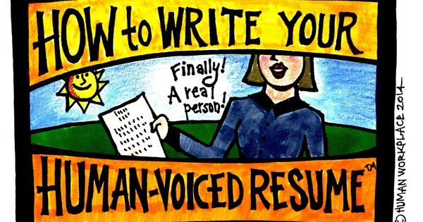 How To Write Your Human-Voiced Resume Job-hunting and career