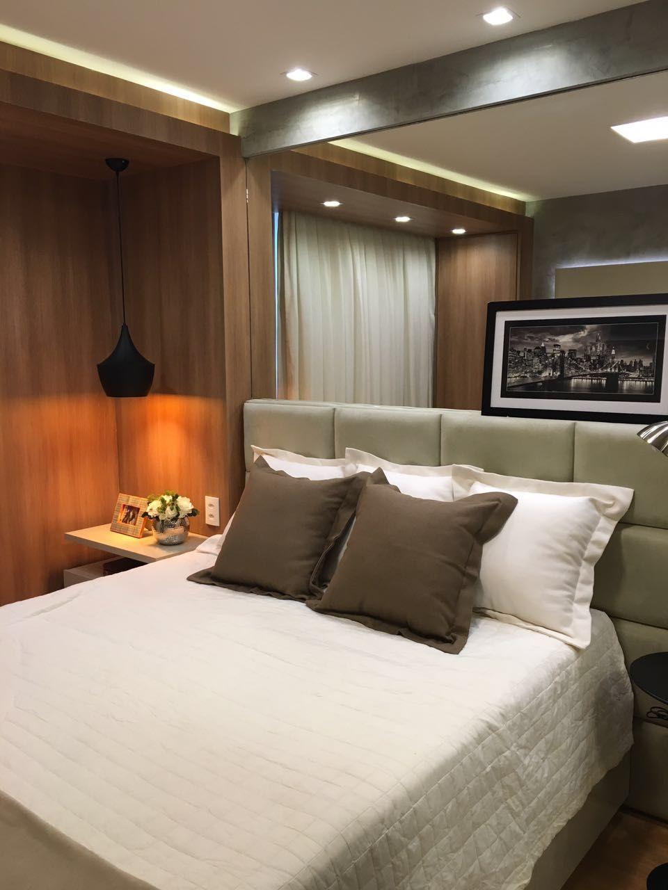 Decora O De Apartamento De 50m2 Super Compacto Mais Muito Bem  ~ Decoração Quarto Casal Apartamento