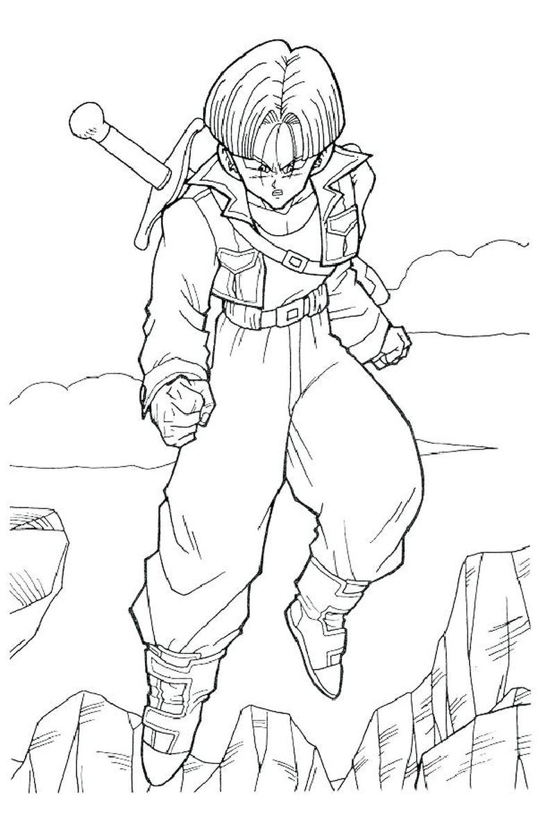 Cool Coloring Pages For Adults In 2020 Dragon Ball Image Dragon Ball Artwork Coloring Books