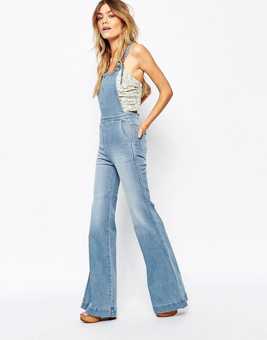 50% price beautiful style ever popular Rollas | Rollas Flare Overall Dungarees at ASOS | Women's ...