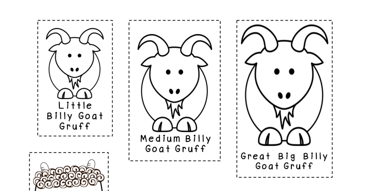 image regarding Three Billy Goats Gruff Story Printable called 3 Billy Goats Gruff Retelling Photos.pdf Studying bus