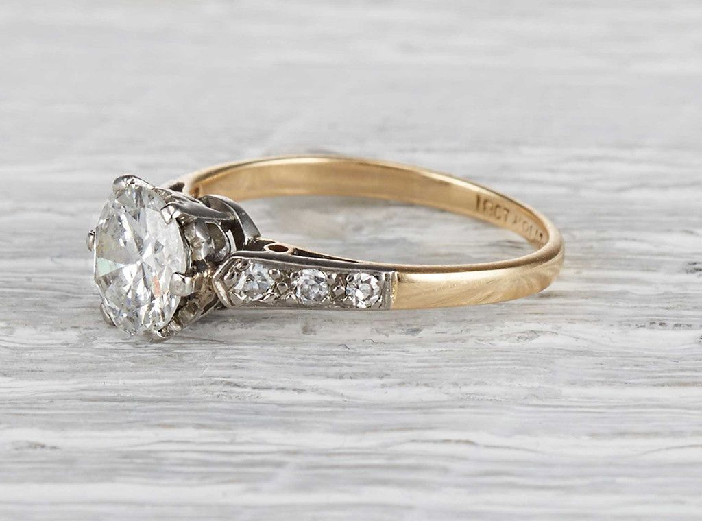 1.10 Carat Edwardian Engagement Ring. Adore the old beauty in this ring
