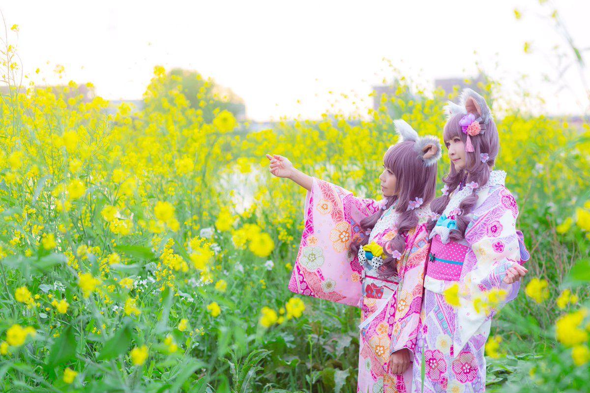 さくら提督㌠@2日目東サ-23b @rionsakura *創作オキモノ写真* photo*asada_n @asada_n 4月に撮ったうちこさん@uchicoro プロデュースのお着物写真。うちこさんのセンス素晴らしくて、うちこさんの世界に混ぜてもらえて幸せな日でした! うちこさんと さくら提督㌠@2日目東サ-23bさん