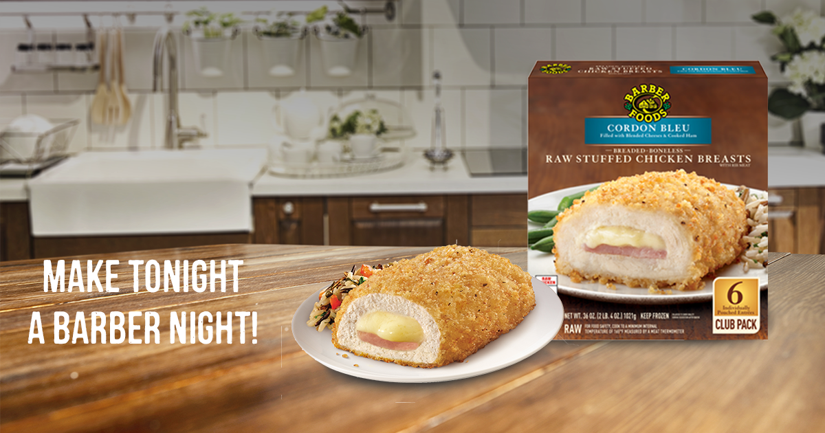 Barber Foods Cordon Bleu Stuffed Chicken Quick And Delicious
