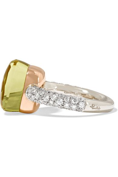 Nudo Solitaire 18-karat White Gold, Rose Gold And Diamond Ring - 15 POMELLATO