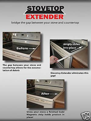 Stovetop Extender White Fits Between Stove Counter With