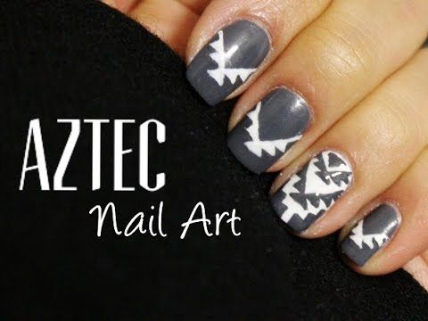 Easy Aztec Nails Using A Toothpick Httpnailtech6easy