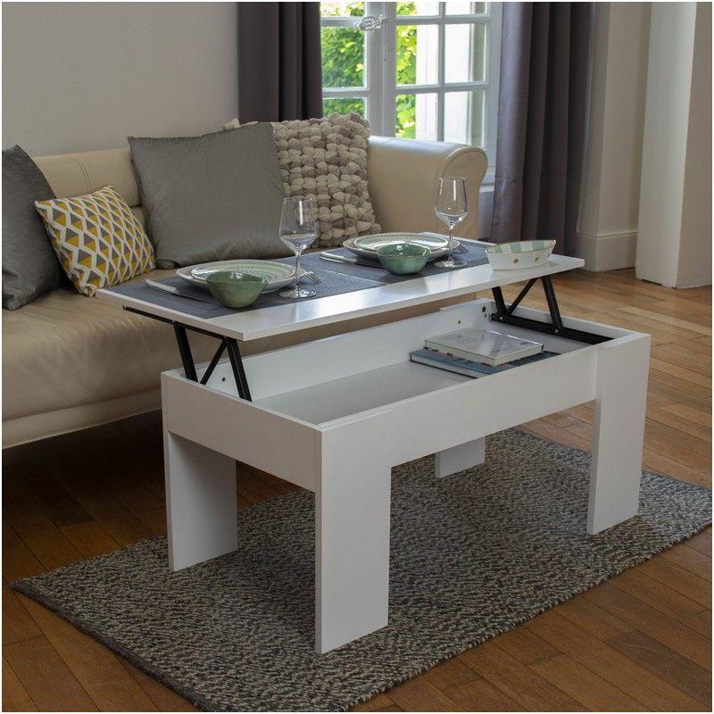 12 Adorable Table Basse Relevable Blanc Laque Pics