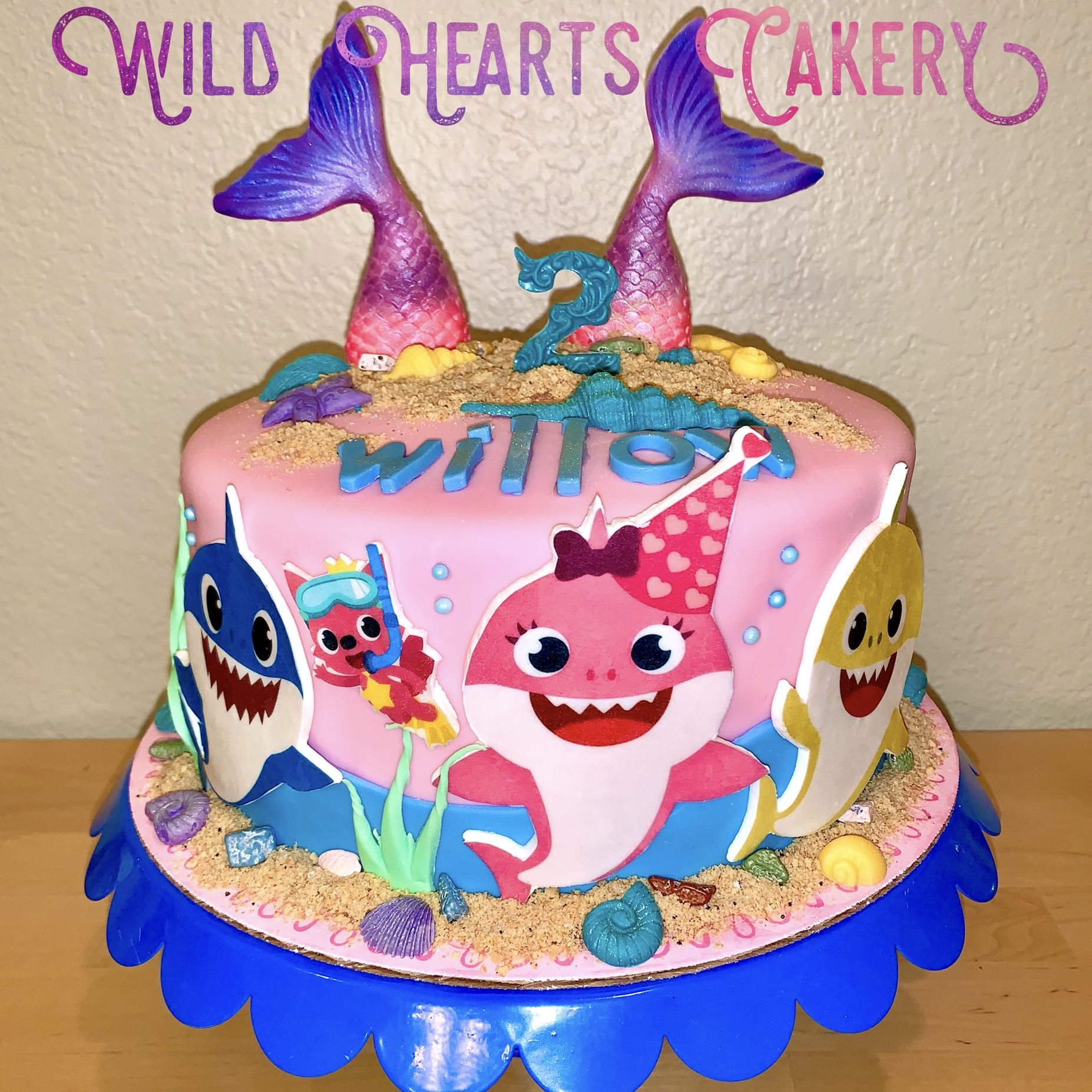 Baby shark cake in 2020 cake shark cake edible images