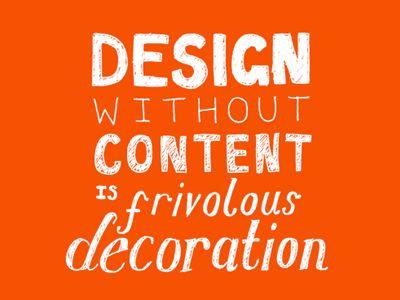 Diseño sin contenido... es solo decoración frívola