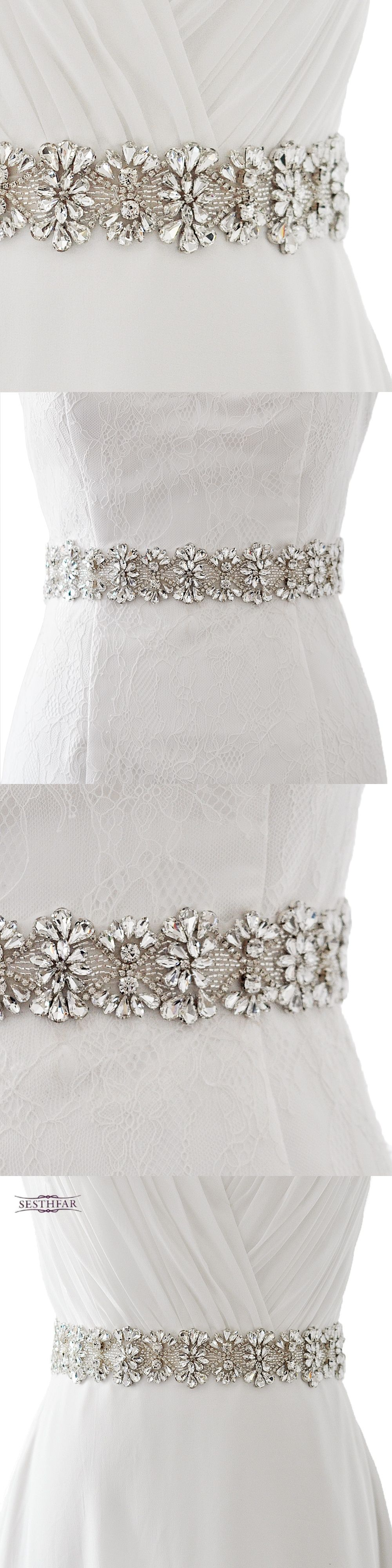 S wedding belts with diamond and crystal bead wedding accessories