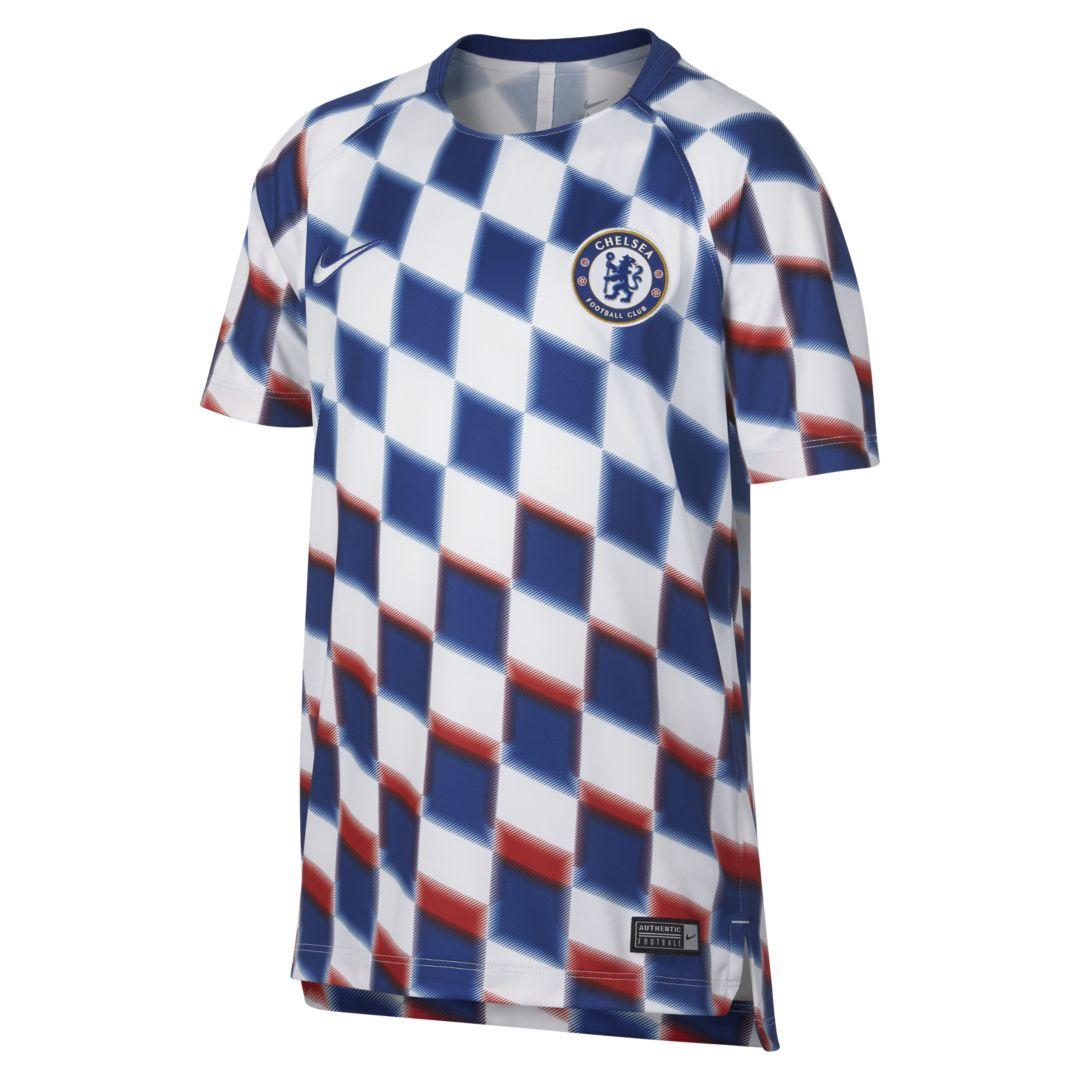 0aed8b44eb1 Chelsea FC Dri-FIT Squad Big Kids' Soccer Top Size XS (White ...
