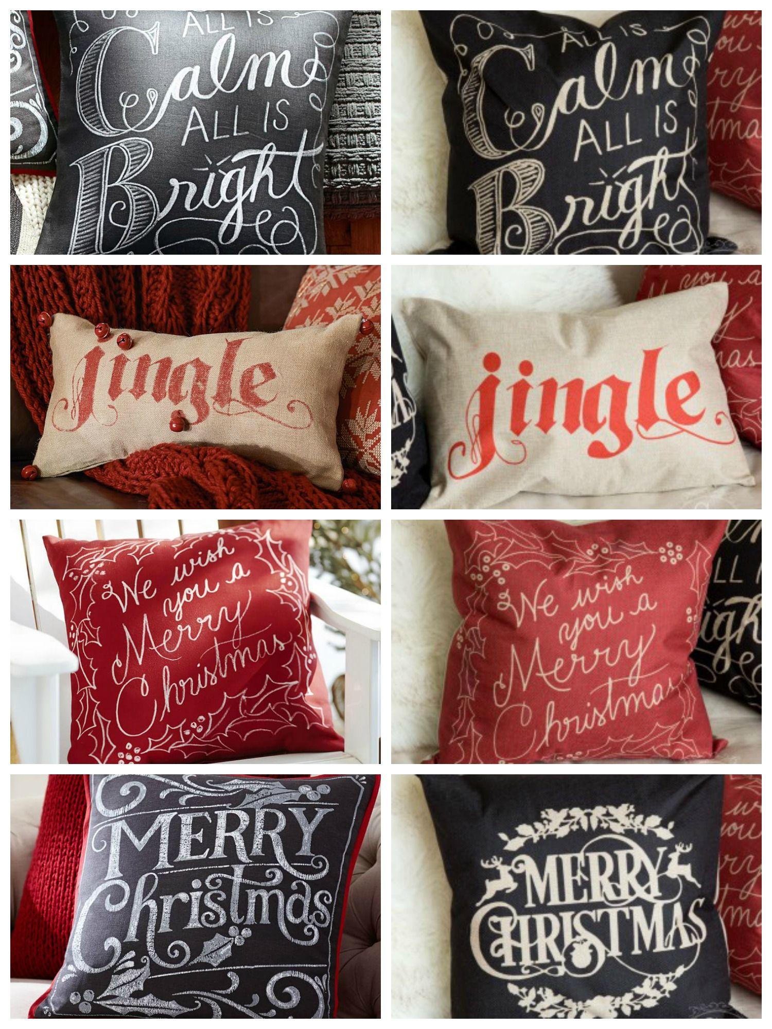 Pottery Barn Holiday Pillows Pottery Barn Christmas Holiday