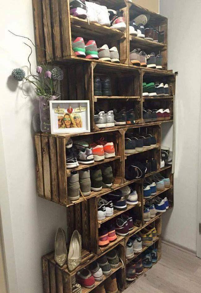 10 idées de rangements pratiques pour vos chaussures rangement chaussuresmeuble chaussurerangement maisonrangement