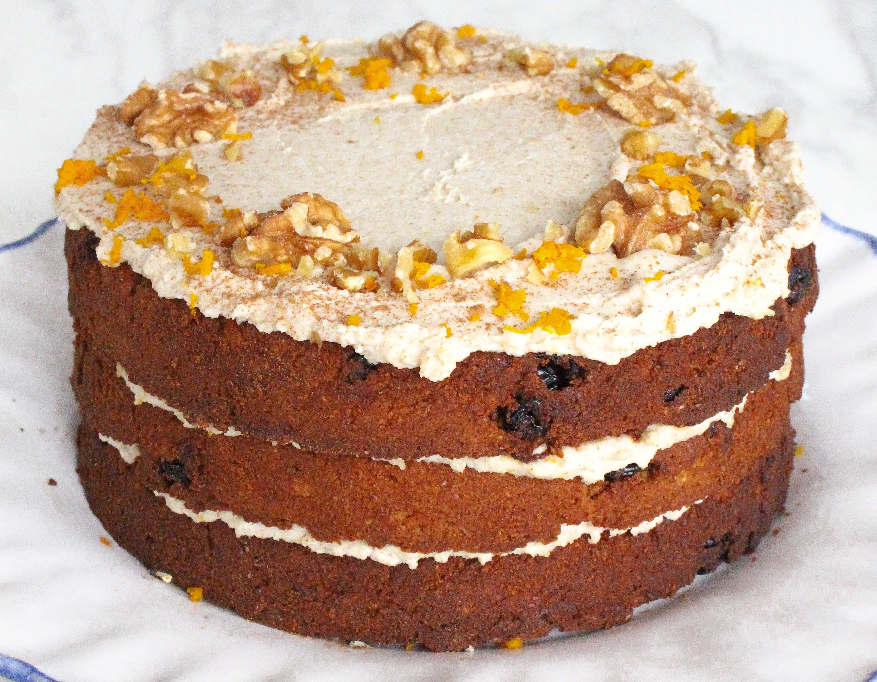 Gluten free carrot cake recipe with cashew frosting