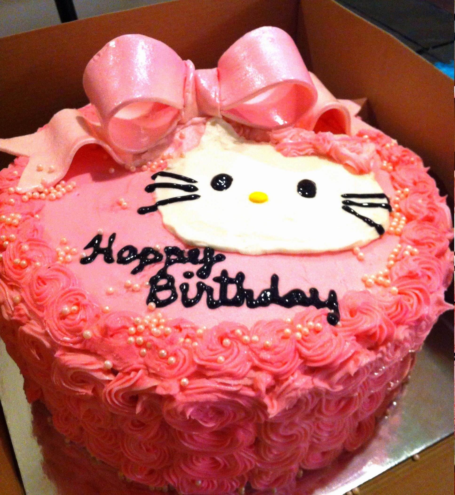 Hello Kitty Cake I Love The Loaded Up Icing Of This But Would