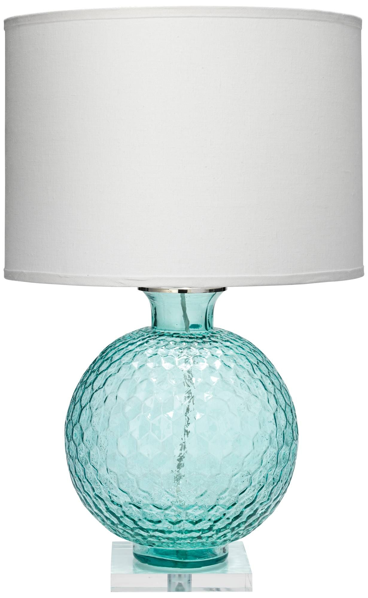 Jamie Young Clark Aqua Blue Glass Table Lamp 7x384 Lamps Plus Glass Table Lamp Turquoise Lamp Table Lamp
