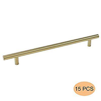 15 Stück golden T Stangengriff Hohle Edelstahl Küchenschrank - küchenschrank griffe edelstahl