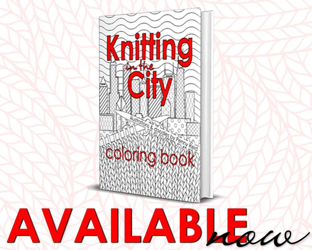 Book Knitting In The City Coloring Book Signed Coloring Books Books Knitting