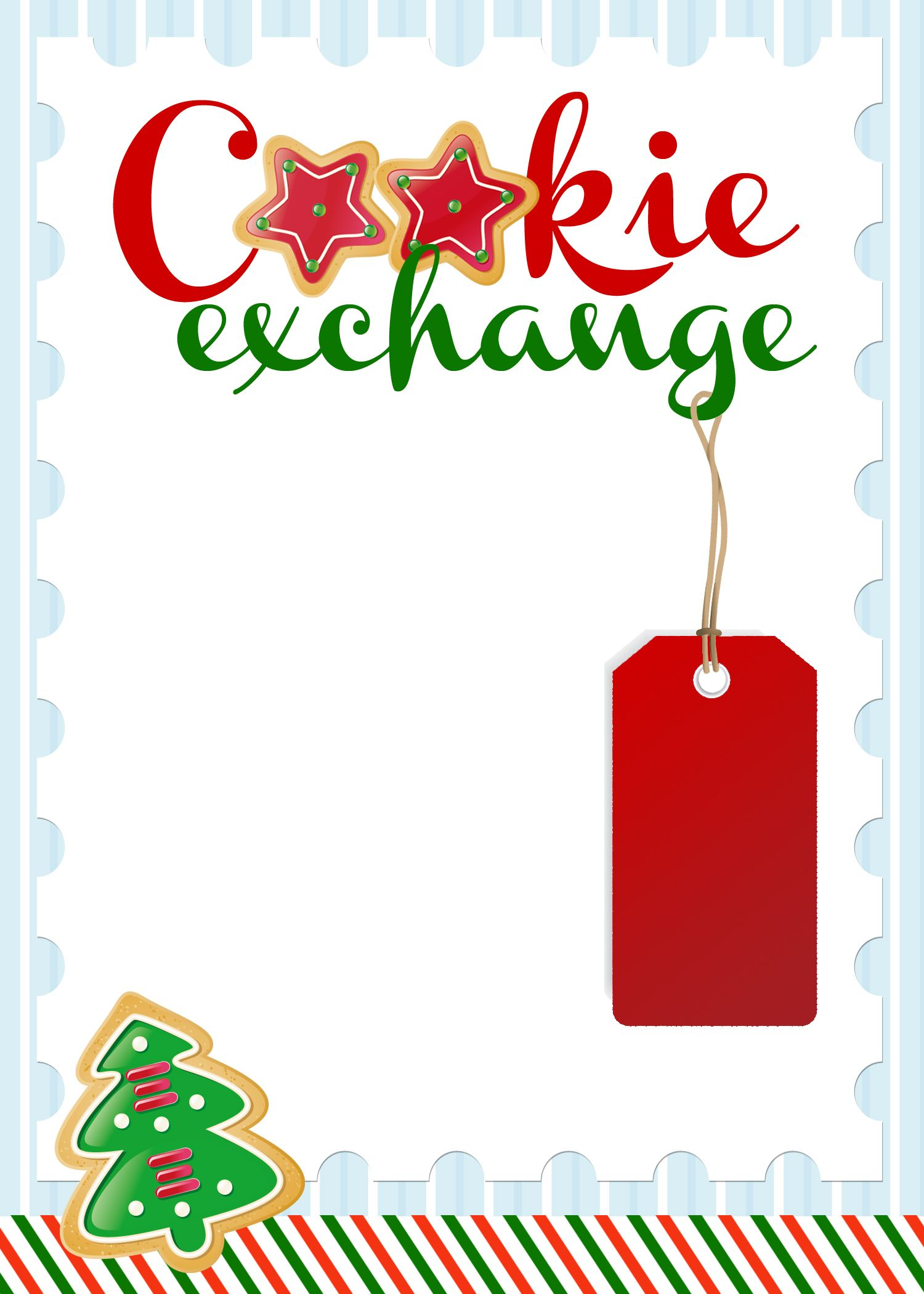 Cookie Exchange Party Free Printables How To Nest For Less Cookie Exchange Invitations Christmas Cookie Exchange Party Ideas Cookie Exchange Party