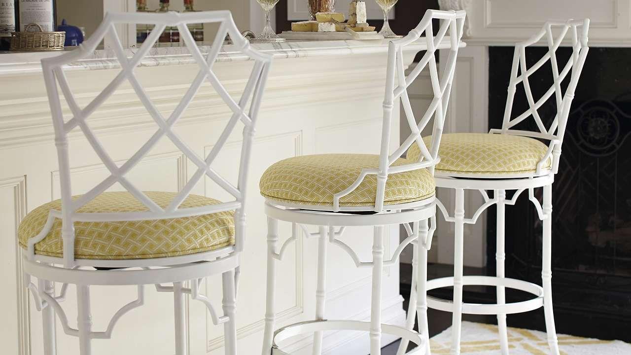 Pleasing Furniture Terra Bamboo Swivel Bar Height Bar Stool Stool Short Links Chair Design For Home Short Linksinfo