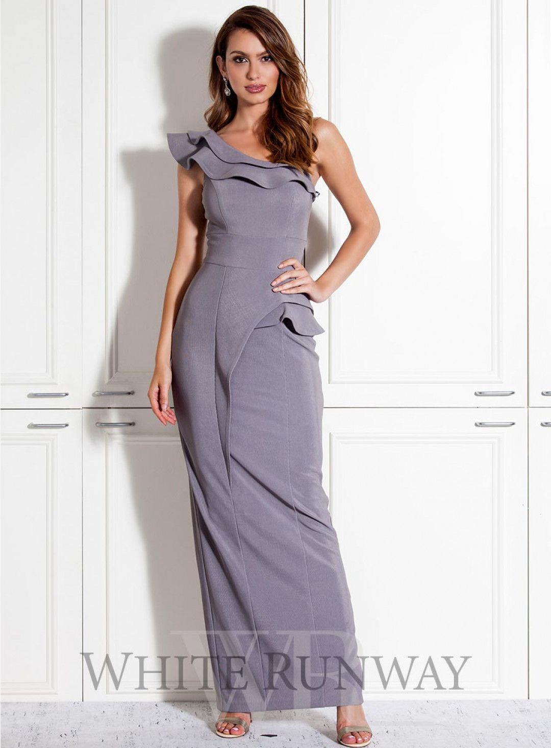 Jadina one shoulder dress a gorgeous full length style by