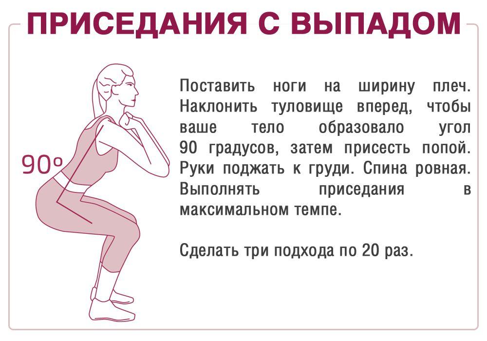 Техника приседания для похудения