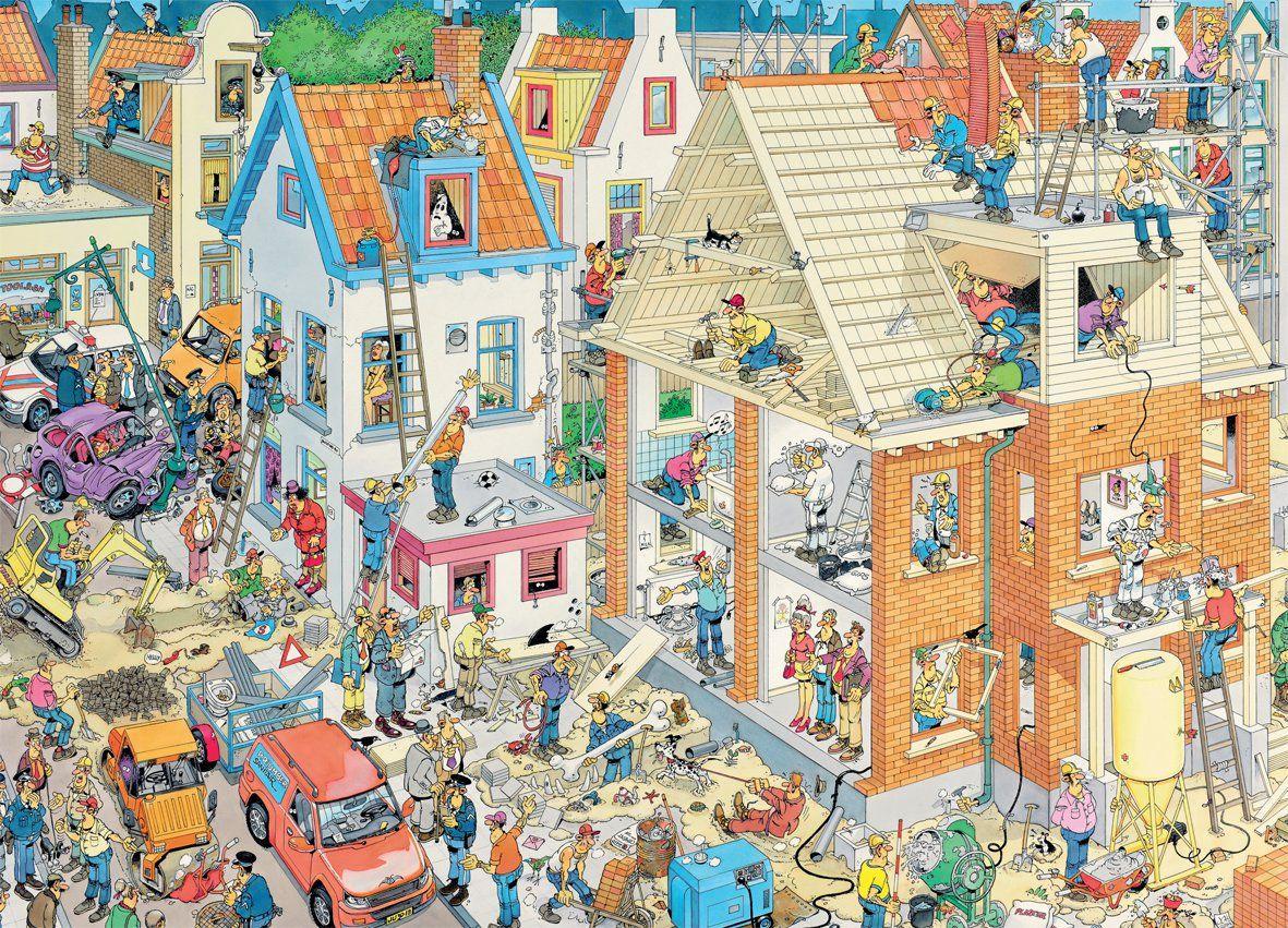 De Bouw Puzzel Jan Van Haasteren Puzzelkunst Puzzel Legpuzzels