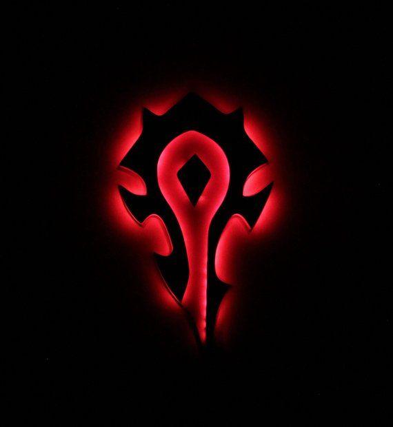 World Of Warcraft Horde Night Lights, Horde Sign, WoW