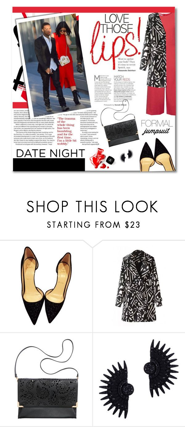 """date night"" by tsungie ❤ liked on Polyvore featuring Christian Louboutin, H&M, Chanel and Lulu Frost"
