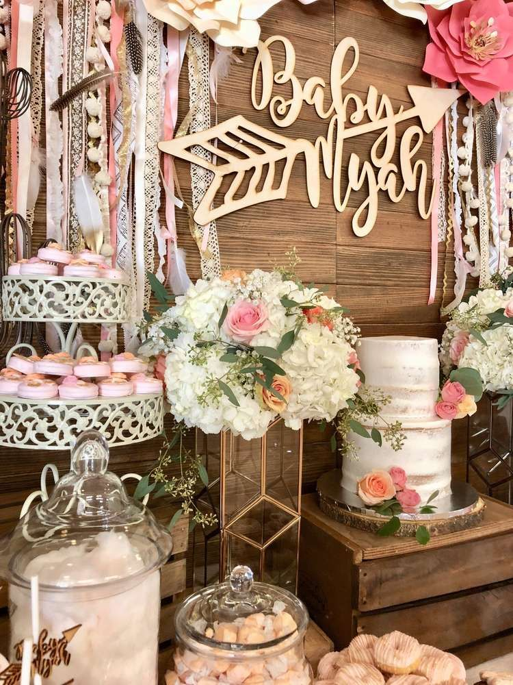 Boho Chic Baby Shower Party Ideas Photo 1 Of 9 Hippie Baby