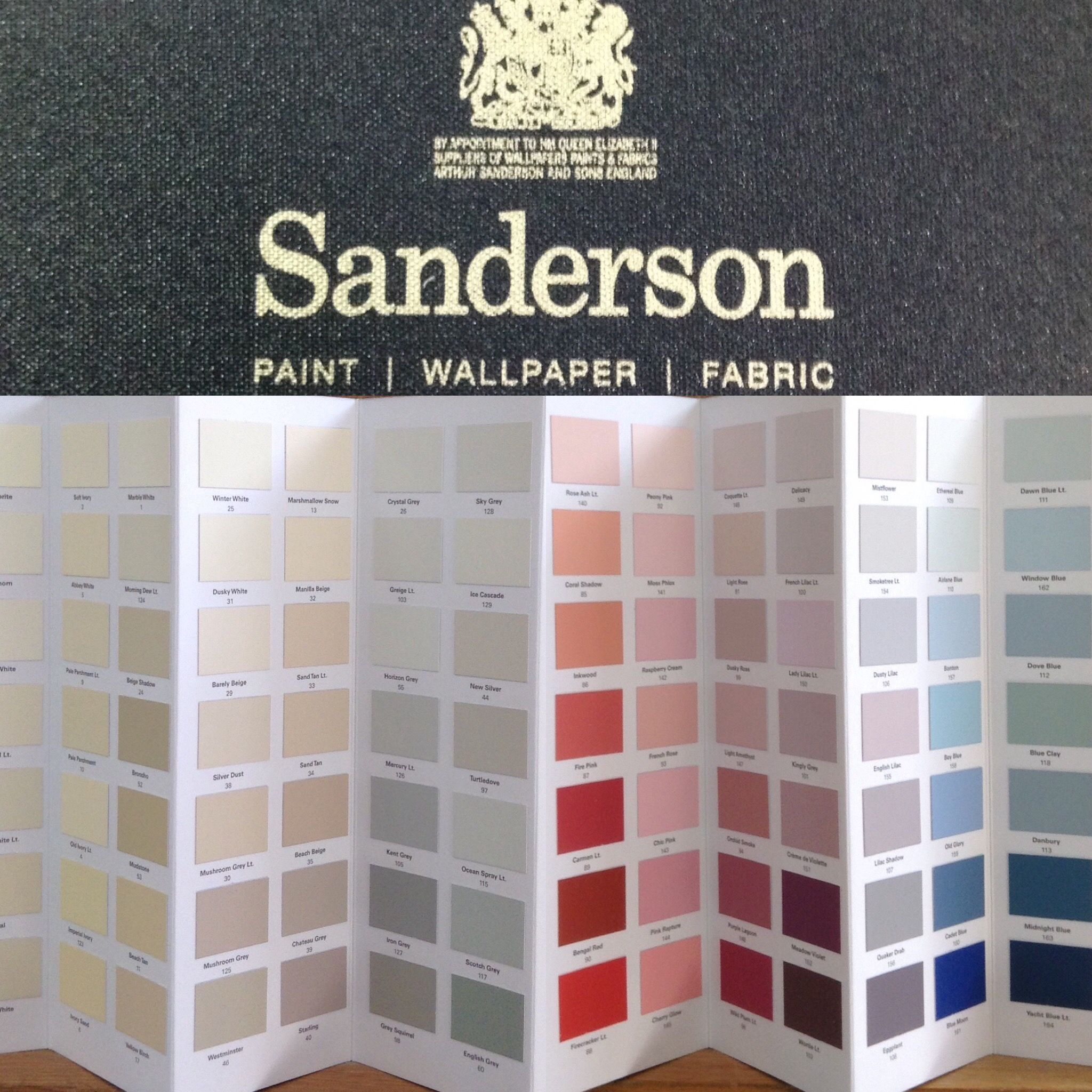 Leyland paints colour chart - Sanderson New Colour Binder Now Available In Store Order Your Free Colour Charts 01325 359982