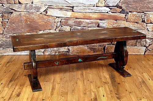 San Juan Turquoise Trestle Bench Bring The Soul Of The