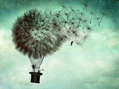 dandelion hot air balloon...blown away surreal