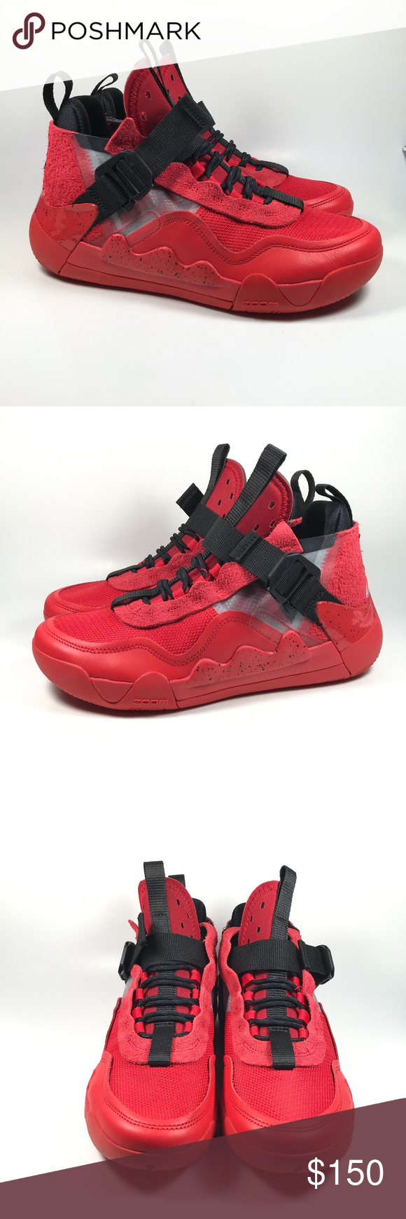 Air Jordan Defy SP Red Black Basketball Sneakers Black