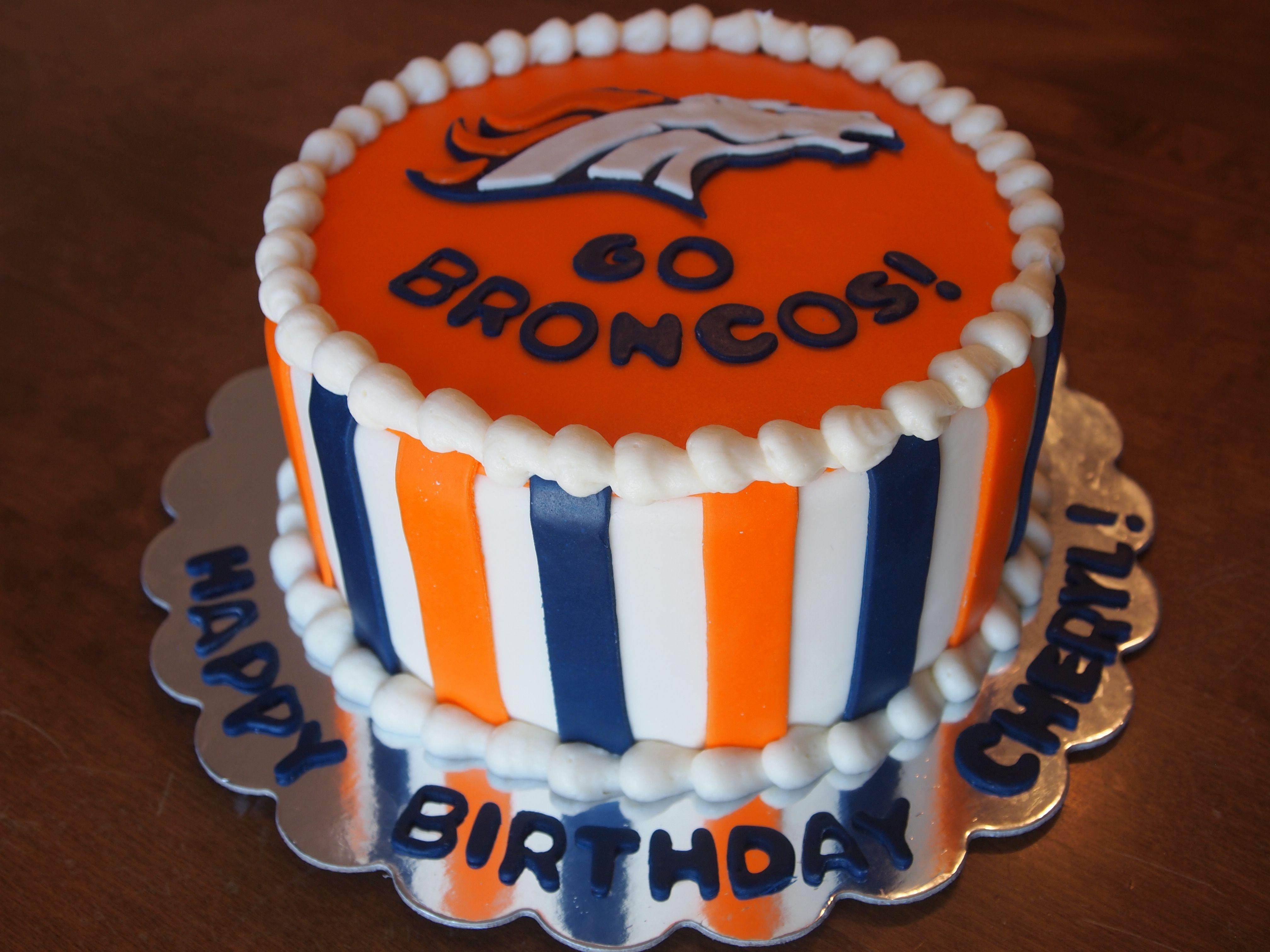 Denver Broncos Cake denverbroncoscake gobroncos fondantbronco