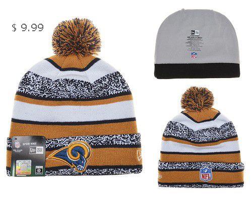 90b0950d25d Cheap NFL Beanies Wholesale New Era Knit Hats St. Louis Rams Sale SLRKH700