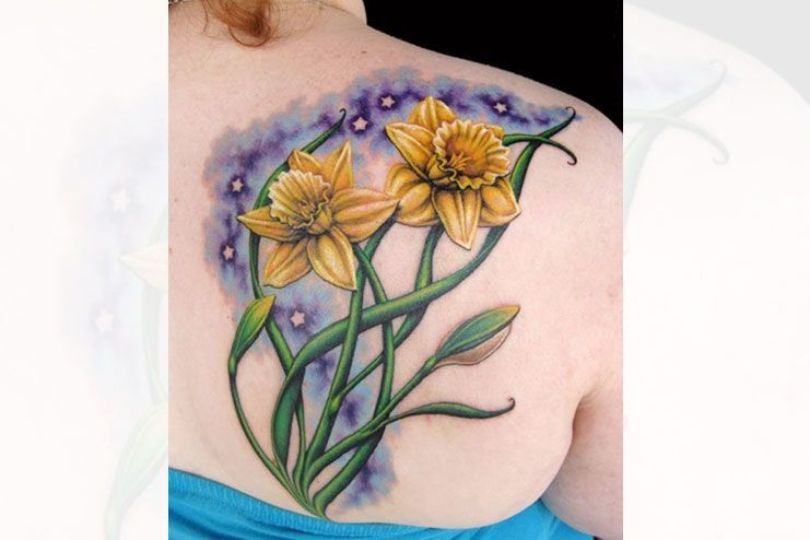 Some Amazing Daffodil Tattoos Designs And Ideas You Must Know About -  Daffodil-tattoos-designs-and-ideas02  - #1998tattoo #Amazing #candletattoo #daffodil #daffodiltattoo #designs #ideas #Tattoos #tattoostattoo