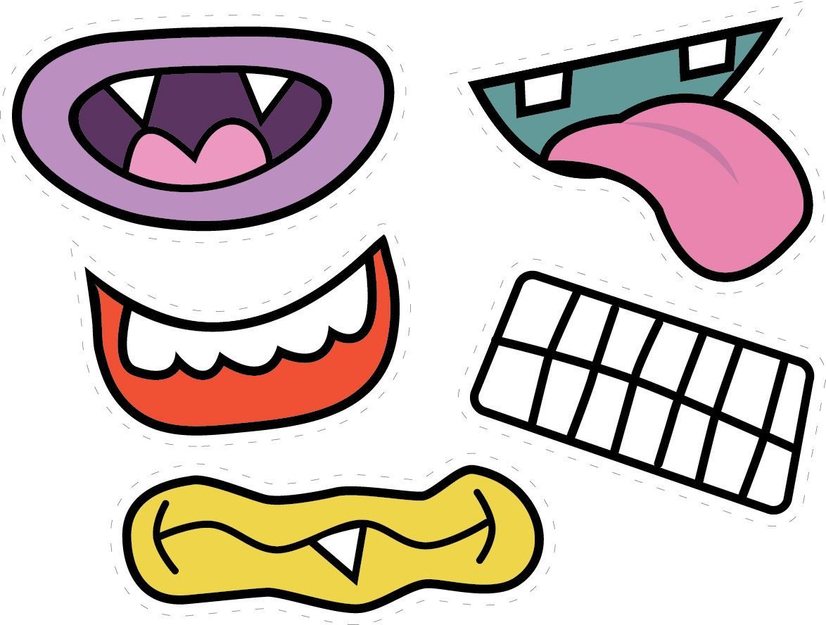 Monster mouths for pictures party time pinterest for Mouth template for preschool